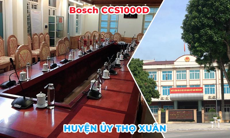 Lắp đặt hệ thống âm thanh Bosch CCS1000D cho phòng họp trực tuyến tại Huyện Ủy Thọ Xuân
